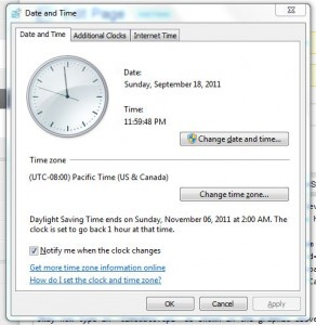 windows date and time dialog